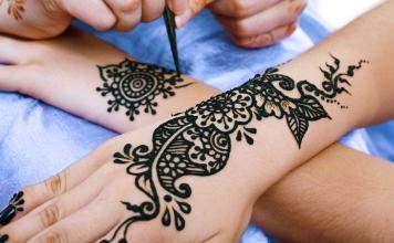 Making of Henna Tattoo Hand Handrücken Motiv