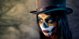 Tattoo Dia de los Muertos Totenmaske Kunst Motiv
