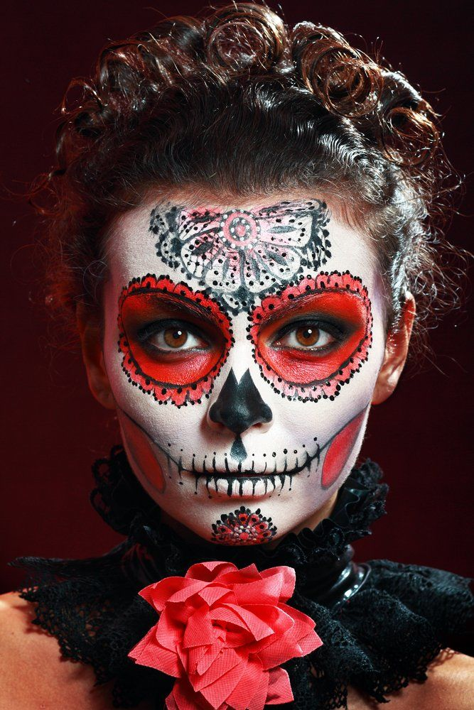 tattoo dia de los muertos kunstvolle totenmasken. Black Bedroom Furniture Sets. Home Design Ideas