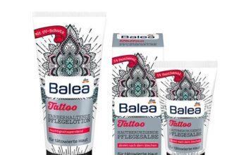 balea tattoo pflege creme