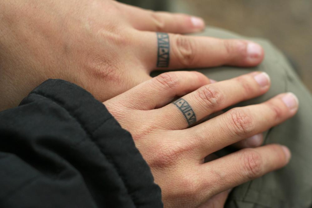 Tattoo Partner Finger Ring Fingerring Partnertattoo Tattooring